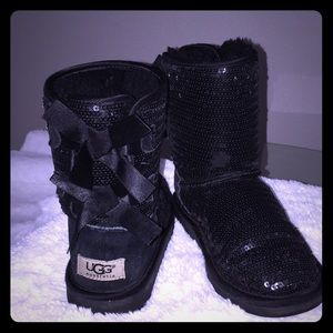 Girls Sequins Black Uggs